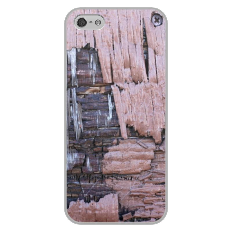 Printio Чехол для iPhone 5/5S, объёмная печать Деревянный