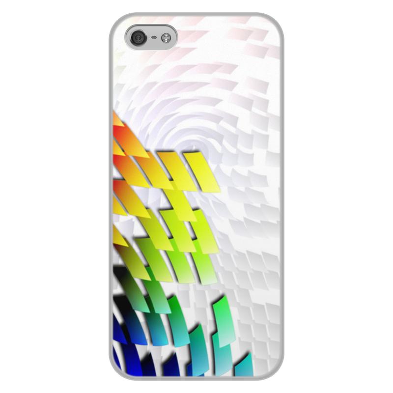 Printio Чехол для iPhone 5/5S, объёмная печать С яркой графической абстракцией.