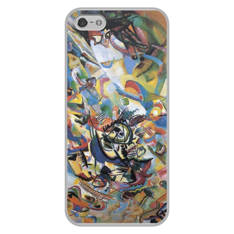 Фото - Printio Чехол для iPhone 5/5S, объёмная печать Композиция vii (василий кандинский) printio чехол для iphone 5 5s объёмная печать жанна д'арк на коронации карла vii энгр