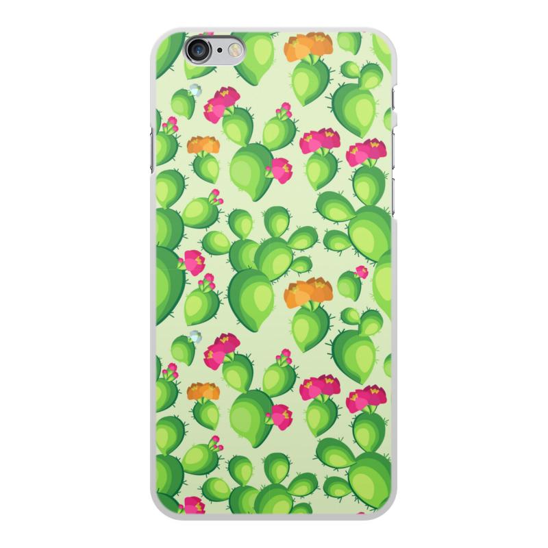 Printio Чехол для iPhone 6 Plus, объёмная печать Кактусы в цвету