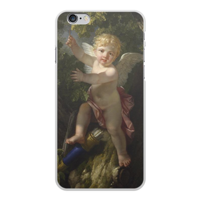 Printio Чехол для iPhone 6 Plus, объёмная печать Купидон на дереве (ле барбье жан-жак-франсуа)
