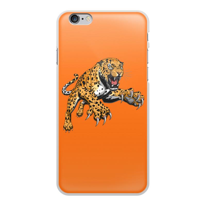 Printio Чехол для iPhone 6 Plus, объёмная печать Ягуар