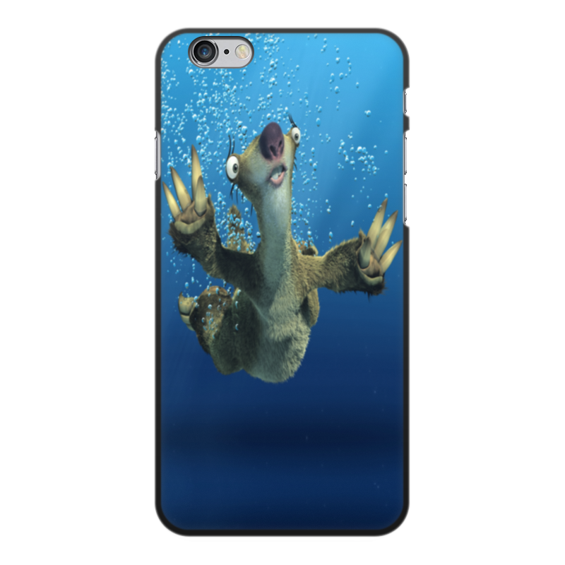 Printio Чехол для iPhone 6 Plus, объёмная печать Ледниковый период (сид под водой)