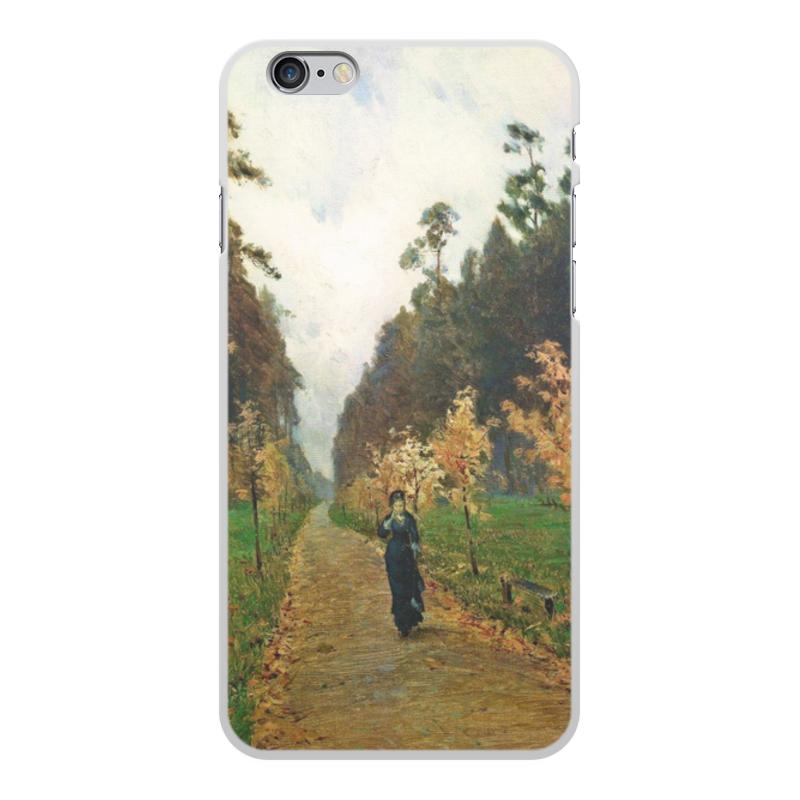 Printio Чехол для iPhone 6 Plus, объёмная печать Осенний день. сокольники (левитан)