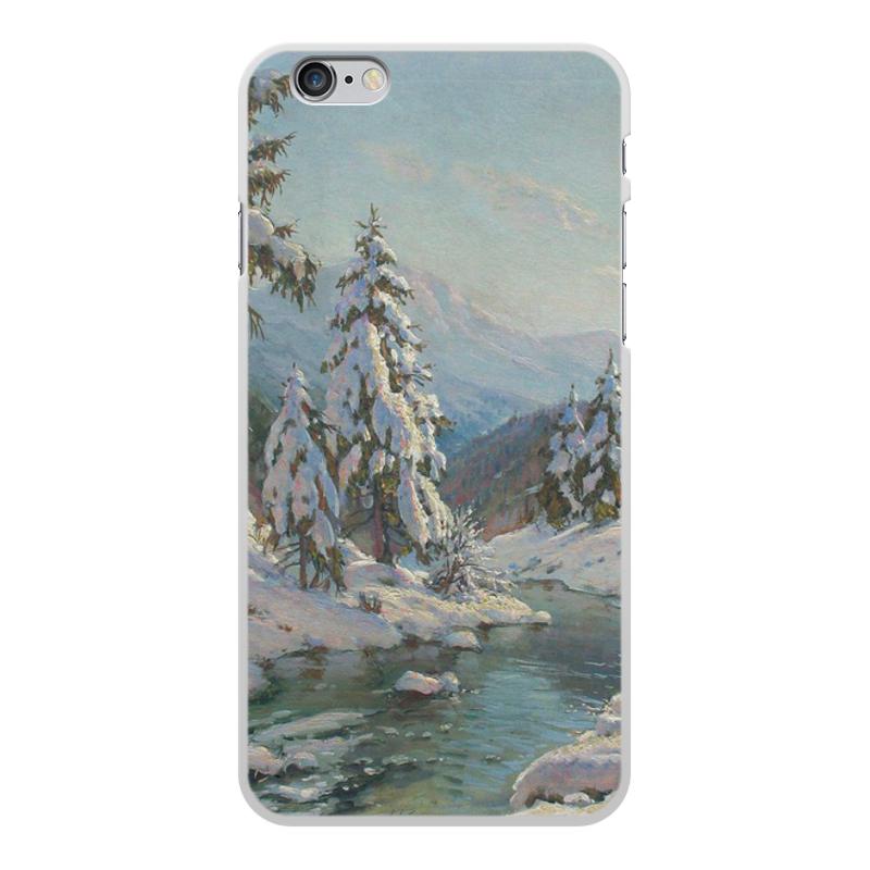 Фото - Printio Чехол для iPhone 6 Plus, объёмная печать Зимний пейзаж с елями (картина вещилова) printio чехол для iphone 7 plus объёмная печать цветы на фоне озера картина вещилова