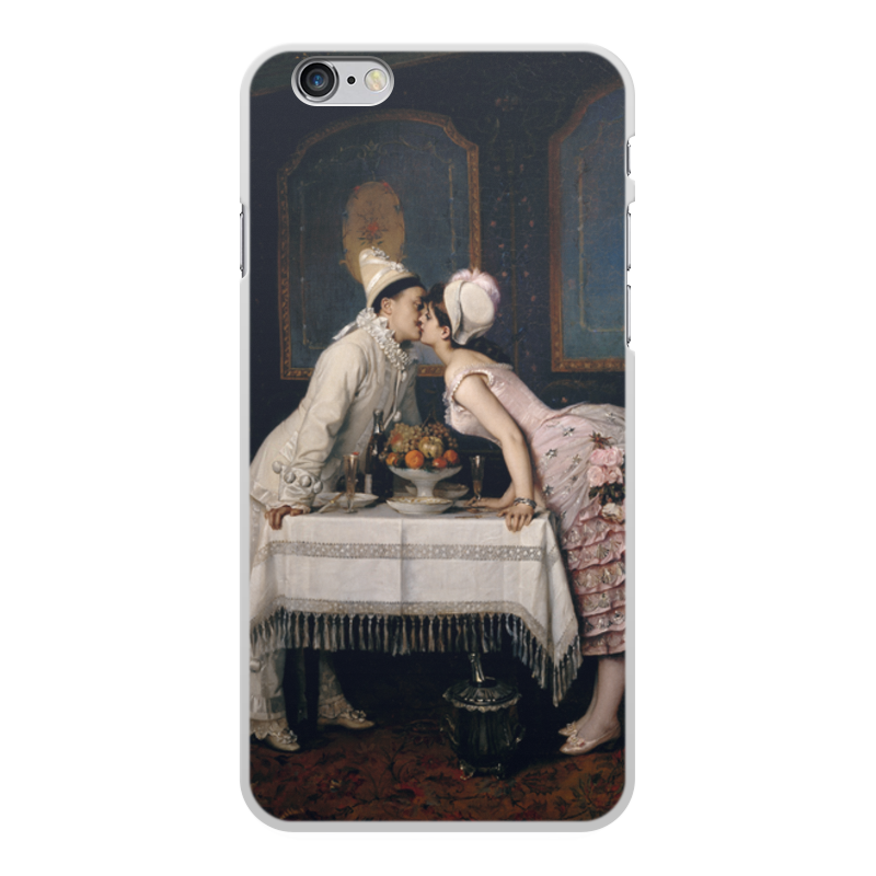 Фото - Printio Чехол для iPhone 6 Plus, объёмная печать Поцелуй (картина огюста тульмуша) printio чехол для iphone 7 plus объёмная печать поцелуй картина климта