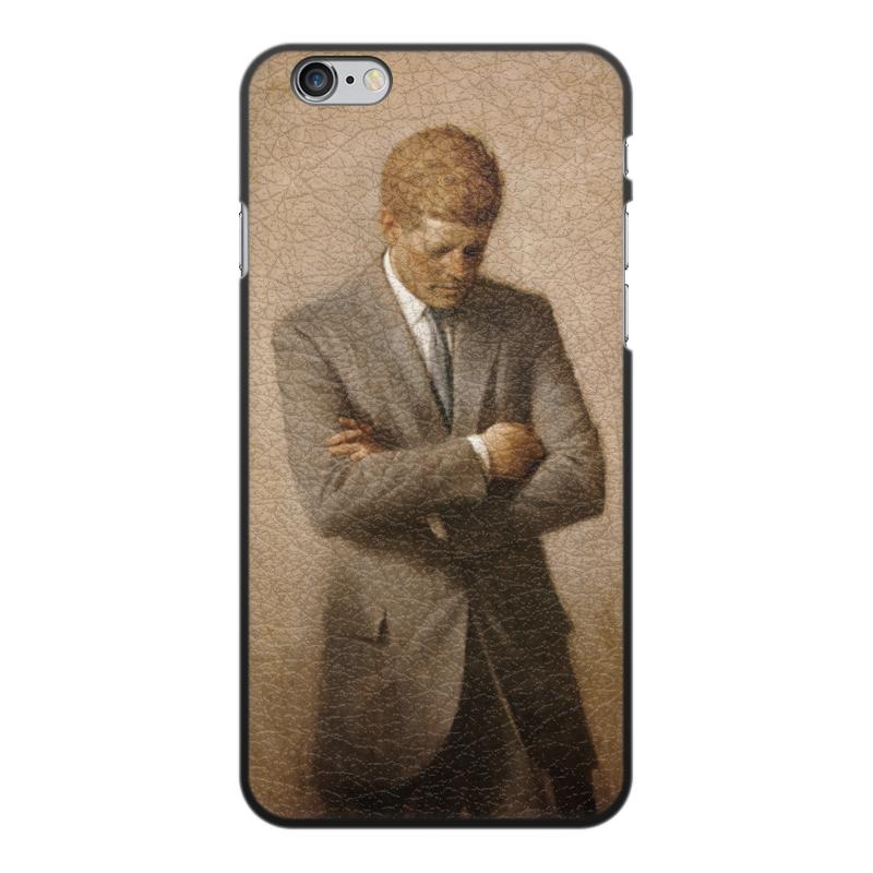 Printio Чехол для iPhone 6 Plus, объёмная печать Портрет президента джона ф. кеннеди.