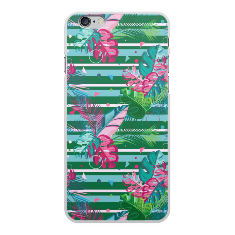 Фото - Printio Чехол для iPhone 6 Plus, объёмная печать Полосатые тропики printio подушка для шеи полосатые тропики