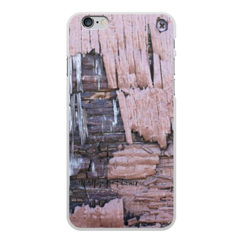 Printio Чехол для iPhone 6 Plus, объёмная печать Деревянный
