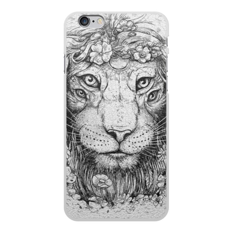 Printio Чехол для iPhone 6 Plus, объёмная печать Царь природы