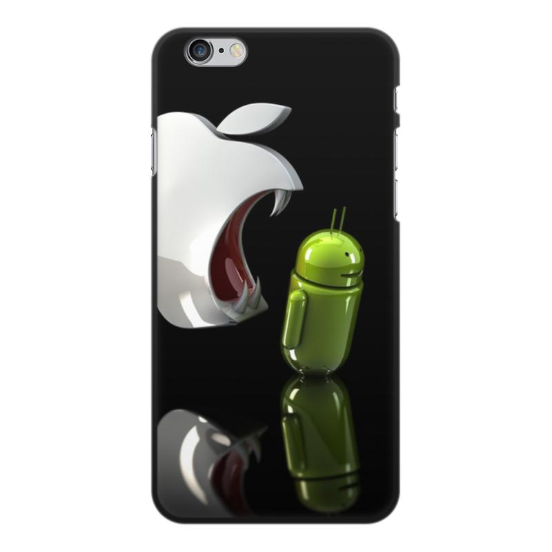 Printio Чехол для iPhone 6 Plus, объёмная печать Айфон против андроид printio чехол для iphone 7 plus объёмная печать айфон