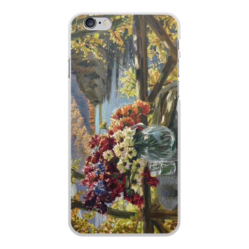 Фото - Printio Чехол для iPhone 6 Plus, объёмная печать Цветы на фоне озера (картина вещилова) printio чехол для iphone 7 plus объёмная печать цветы на фоне озера картина вещилова