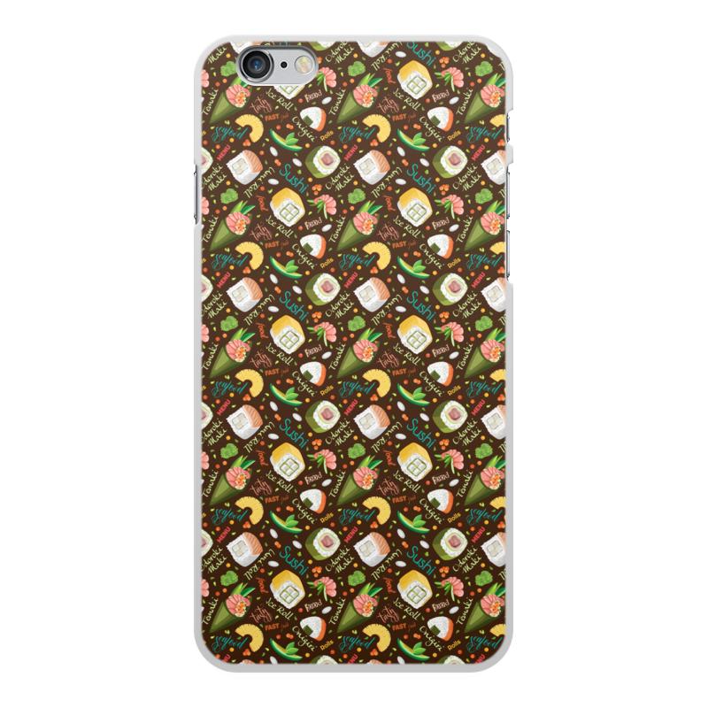 Printio Чехол для iPhone 6 Plus, объёмная печать Много суши