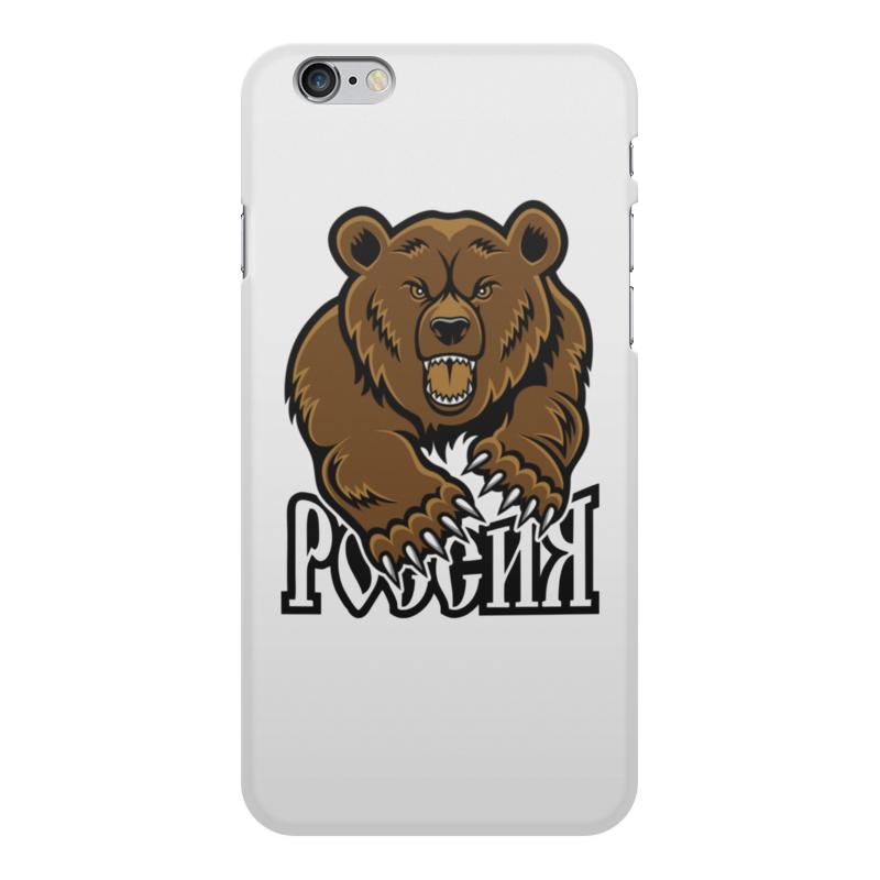 Printio Чехол для iPhone 6 Plus, объёмная печать Медведь. символика