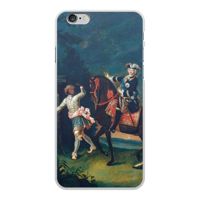 Printio Чехол для iPhone 6 Plus, объёмная печать Конный портрет елизаветы петровны с арапчонком