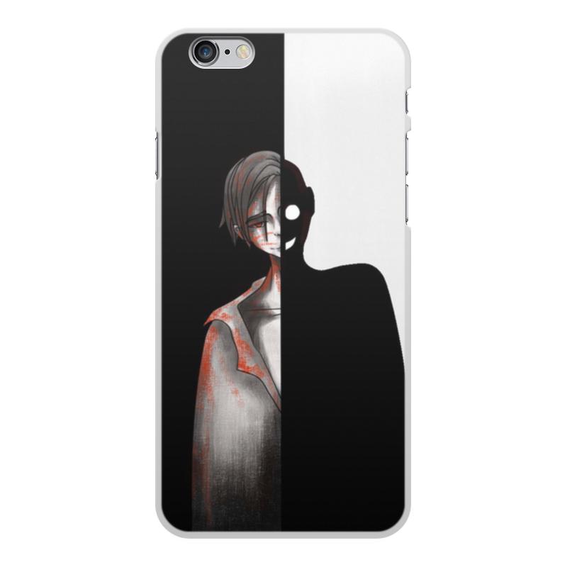 Printio Чехол для iPhone 6 Plus, объёмная печать Черное&белое