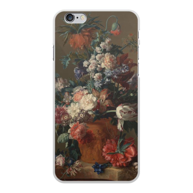 Printio Чехол для iPhone 6 Plus, объёмная печать Ваза с цветами (ян ван хёйсум) printio чехол для iphone 5 5s объёмная печать цветочный натюрморт ян ван хёйсум
