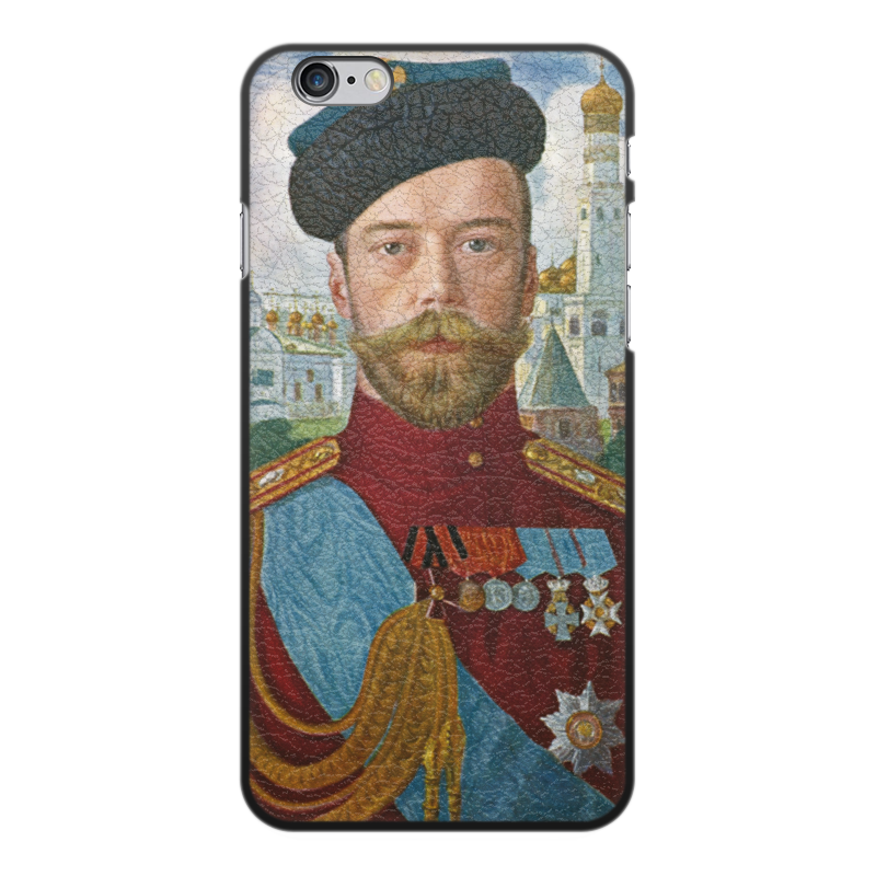 Printio Чехол для iPhone 6 Plus, объёмная печать Царь николай ii (борис кустодиев) printio чехол для iphone 5 5s объёмная печать царь николай ii борис кустодиев
