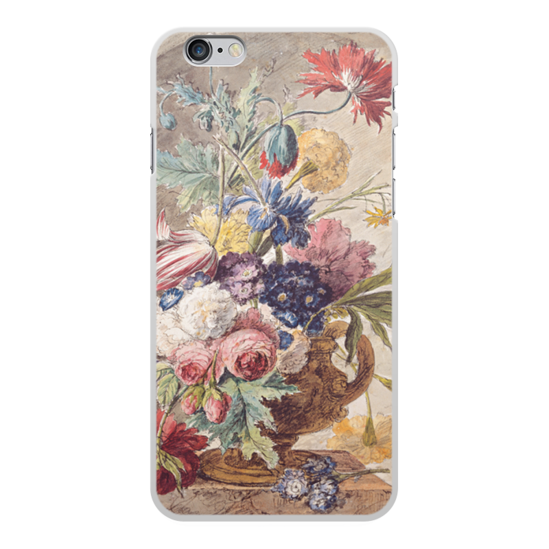 Printio Чехол для iPhone 6 Plus, объёмная печать Цветочный натюрморт (ян ван хёйсум) printio чехол для iphone 5 5s объёмная печать цветочный натюрморт ян ван хёйсум