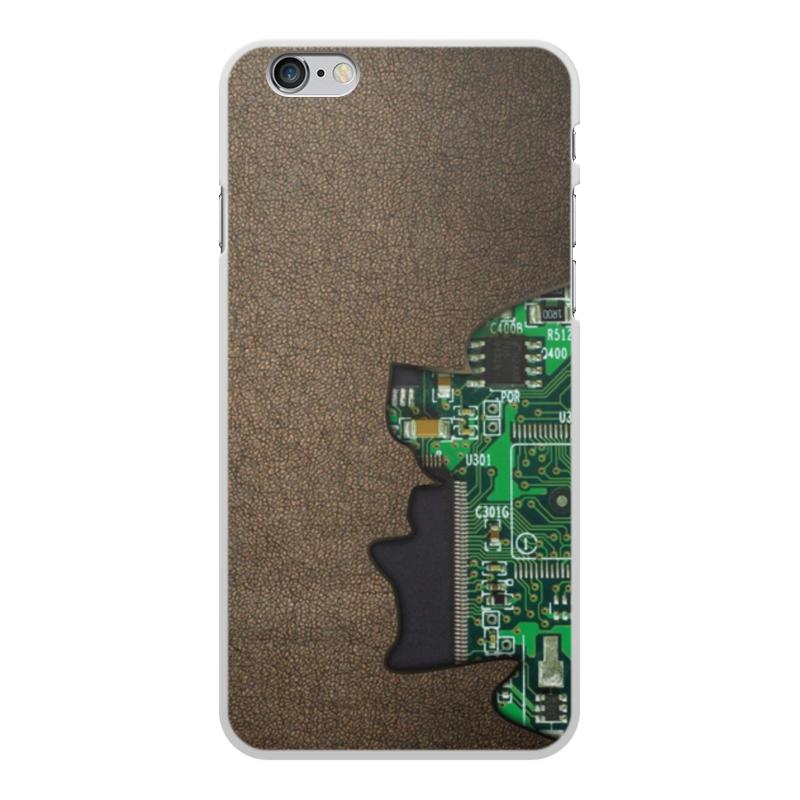 Printio Чехол для iPhone 6 Plus, объёмная печать Внутренний мир телефона (микросхема).