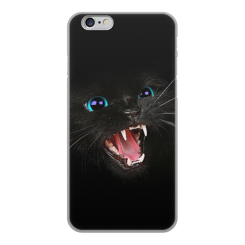 Printio Чехол для iPhone 6, объёмная печать Черная кошка