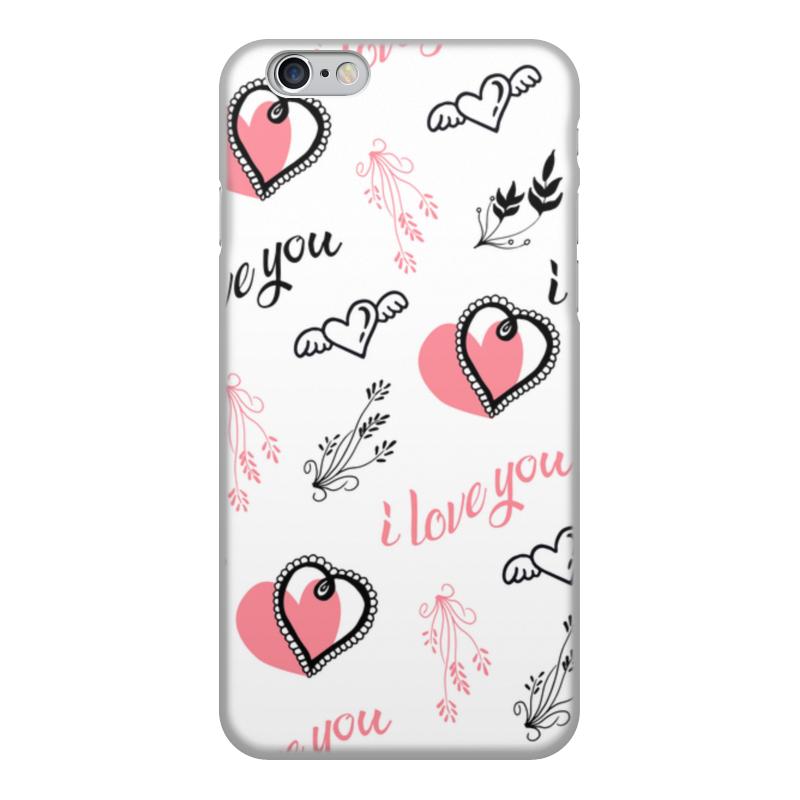 Printio Чехол для iPhone 6, объёмная печать Любовь чехол