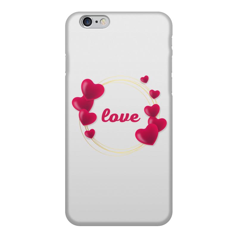 Printio Чехол для iPhone 6, объёмная печать Любовная надпись.