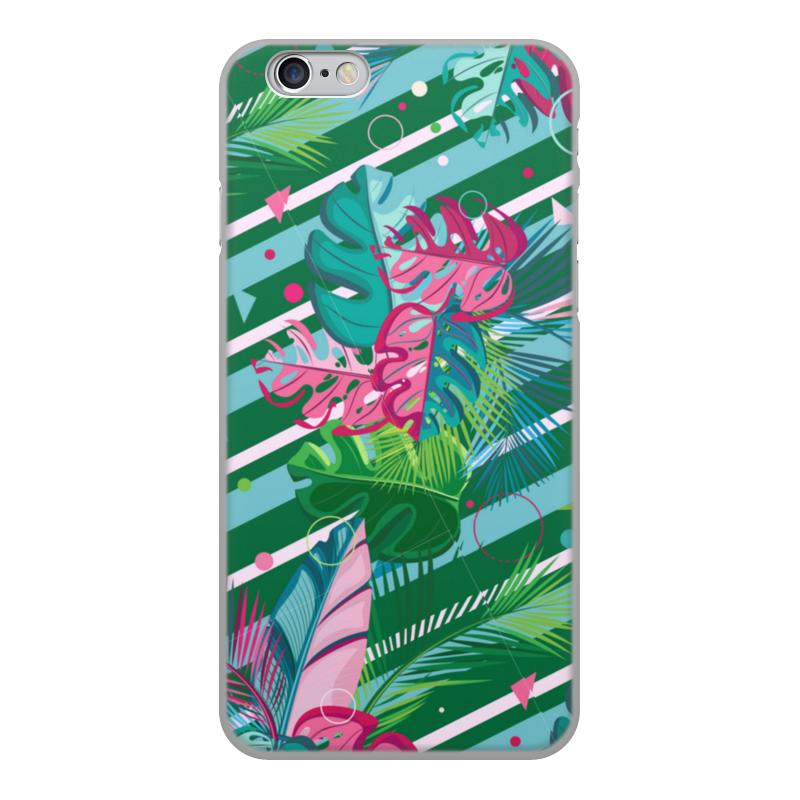 Фото - Printio Чехол для iPhone 6, объёмная печать Полосатые тропики printio подушка для шеи полосатые тропики