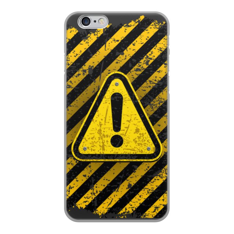 Printio Чехол для iPhone 6, объёмная печать Опасность чехол