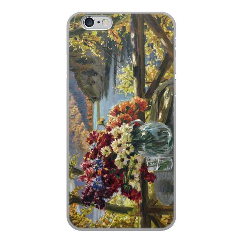 Фото - Printio Чехол для iPhone 6, объёмная печать Цветы на фоне озера (картина вещилова) printio чехол для iphone 7 plus объёмная печать цветы на фоне озера картина вещилова