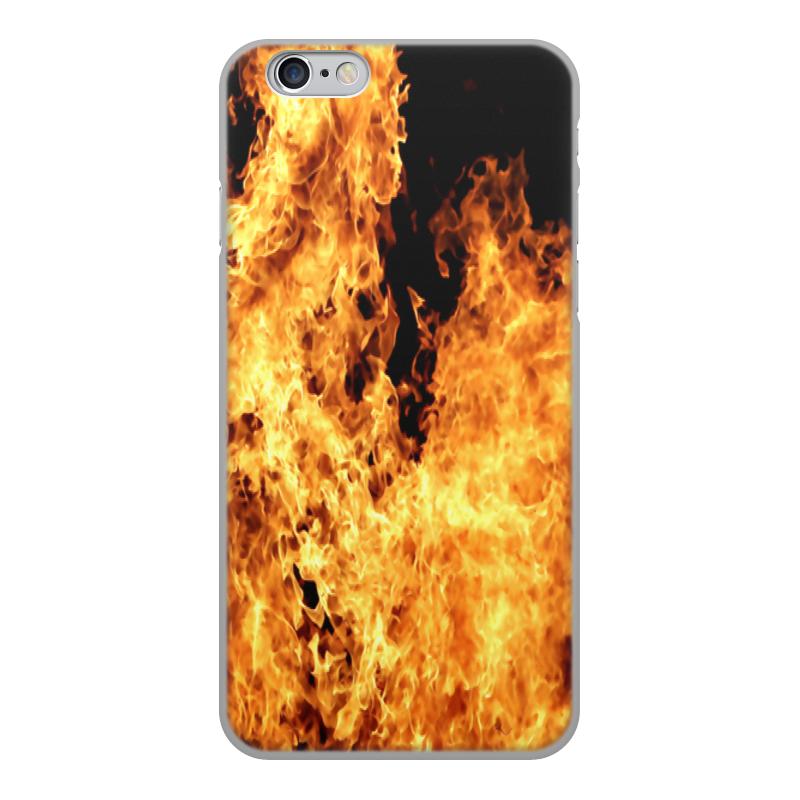 Printio Чехол для iPhone 6, объёмная печать Огонь чехол