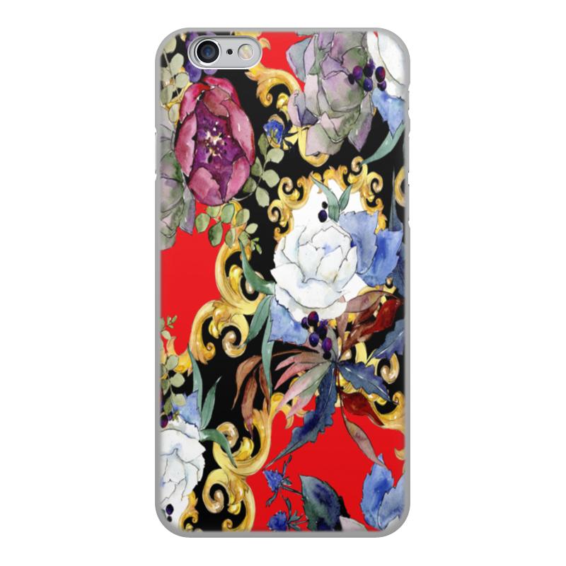 Printio Чехол для iPhone 6, объёмная печать Узор цветов чехол