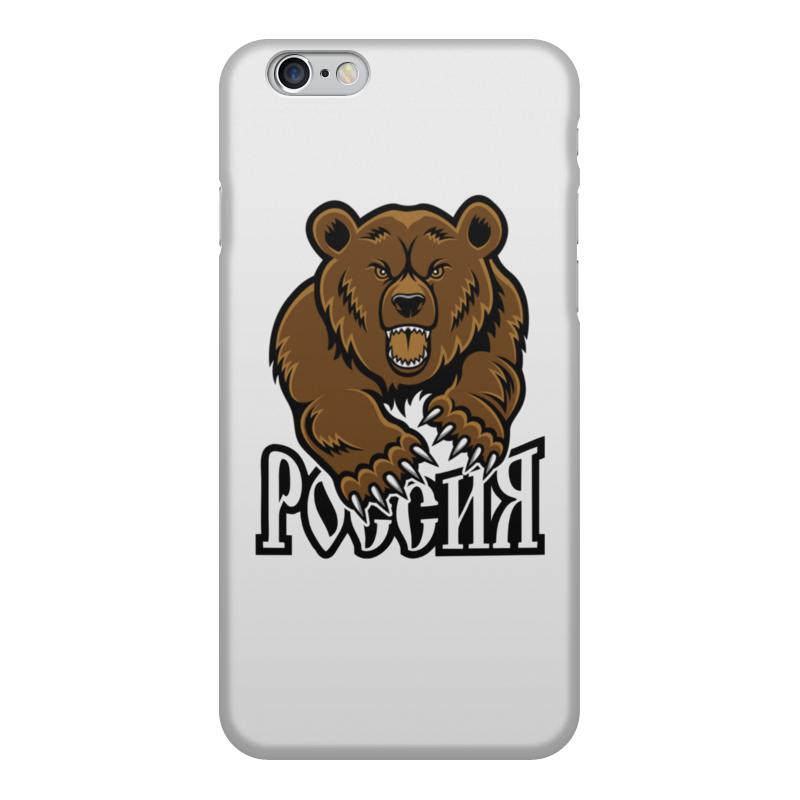 Printio Чехол для iPhone 6, объёмная печать Медведь. символика