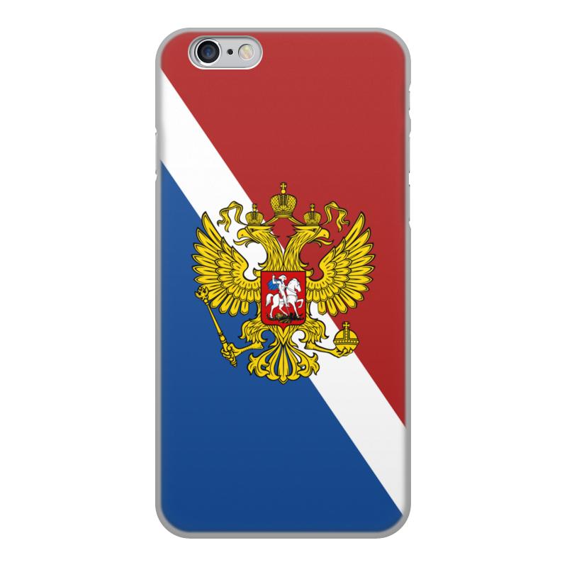 Printio Чехол для iPhone 6, объёмная печать Флаг россии чехол