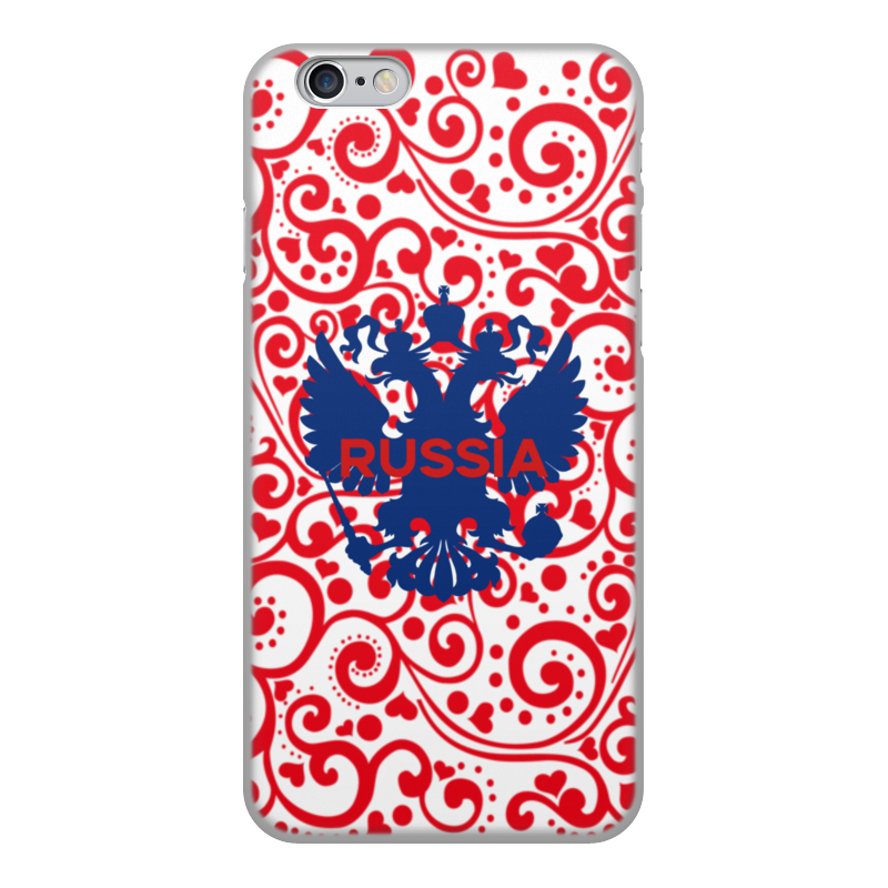 Printio Чехол для iPhone 6, объёмная печать герб россии