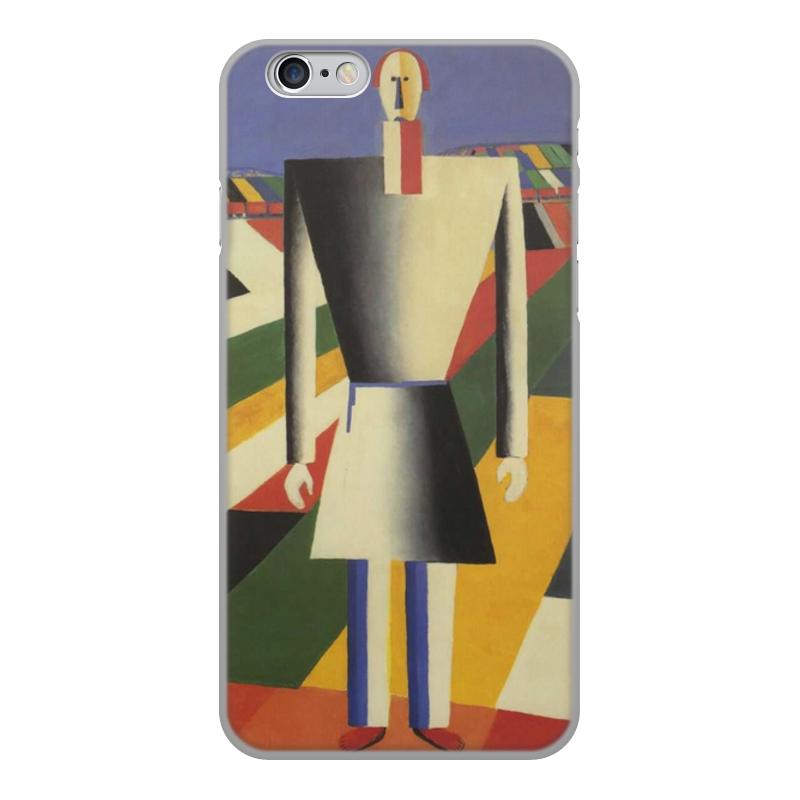 Printio Чехол для iPhone 6, объёмная печать Крестьянин в поле (казимир малевич)