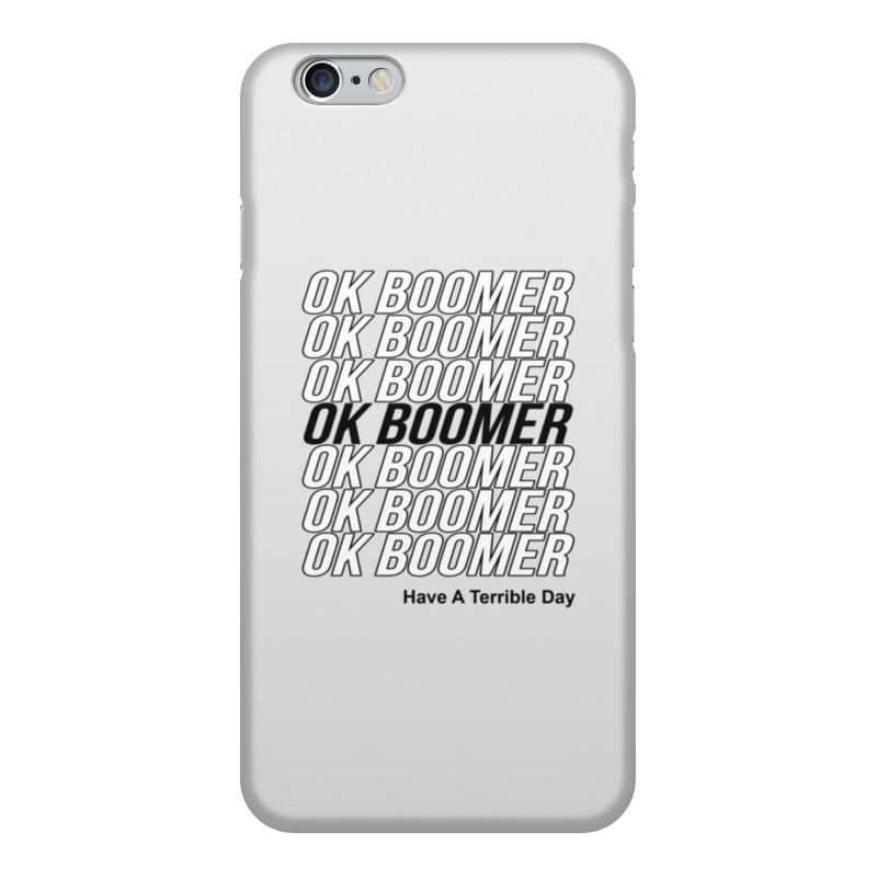 Printio Чехол для iPhone 6, объёмная печать Ok boomer чехол