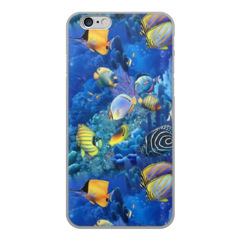 Printio Чехол для iPhone 6, объёмная печать Морской риф чехол