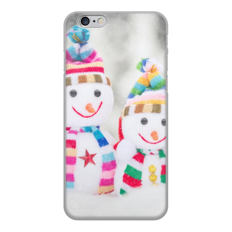 Printio Чехол для iPhone 6, объёмная печать Снеговик чехол