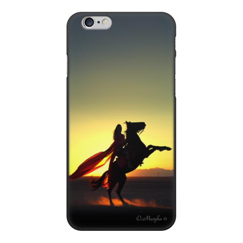 Printio Чехол для iPhone 6, объёмная печать На коне