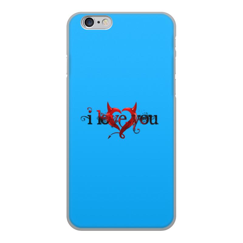 Printio Чехол для iPhone 6, объёмная печать I love you