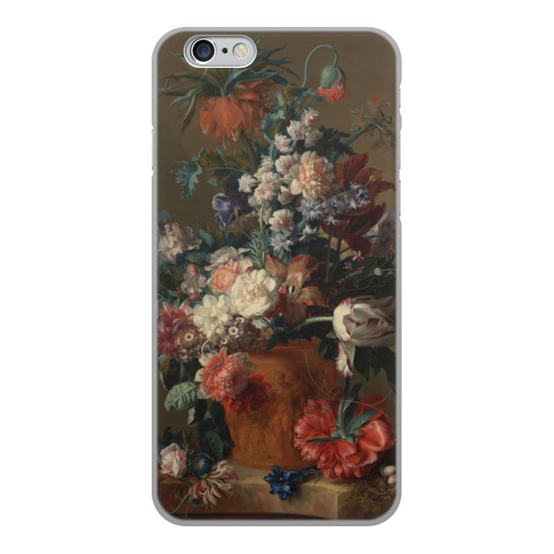 Printio Чехол для iPhone 6, объёмная печать Ваза с цветами (ян ван хёйсум) printio чехол для iphone 5 5s объёмная печать цветочный натюрморт ян ван хёйсум