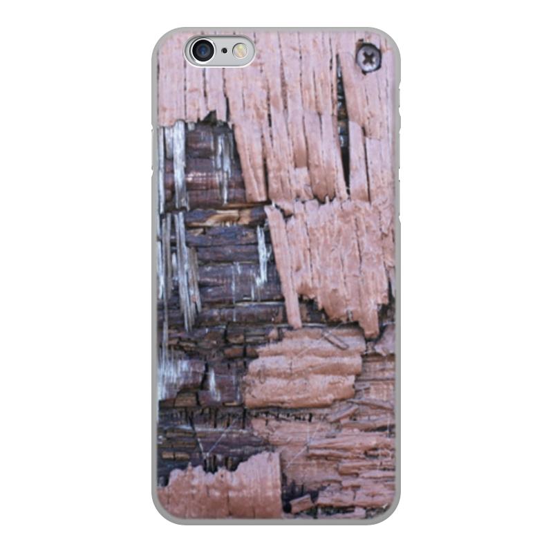 Printio Чехол для iPhone 6, объёмная печать Деревянный