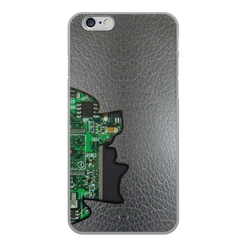 Printio Чехол для iPhone 6, объёмная печать Внутренний мир телефона (микросхема).