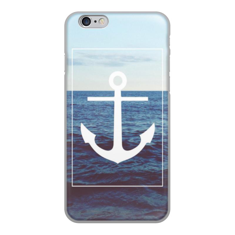 Printio Чехол для iPhone 6, объёмная печать Якорь чехол