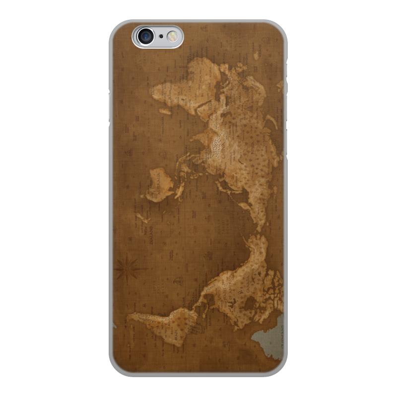 Printio Чехол для iPhone 6, объёмная печать Карта мира