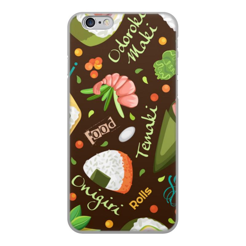 Printio Чехол для iPhone 6, объёмная печать Много суши