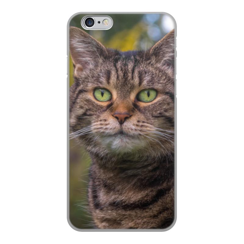 Printio Чехол для iPhone 6, объёмная печать Серый кот