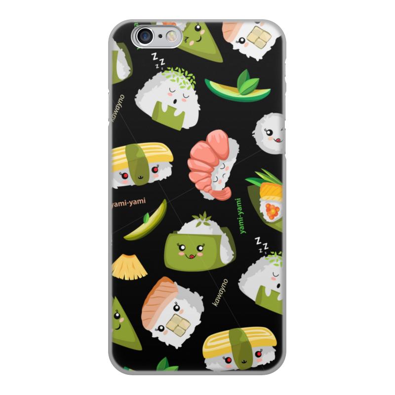Printio Чехол для iPhone 6, объёмная печать Кавайные суши