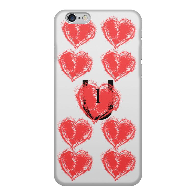 Printio Чехол для iPhone 6, объёмная печать I love u